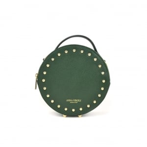 Agata Circular Leather Handbag - Green
