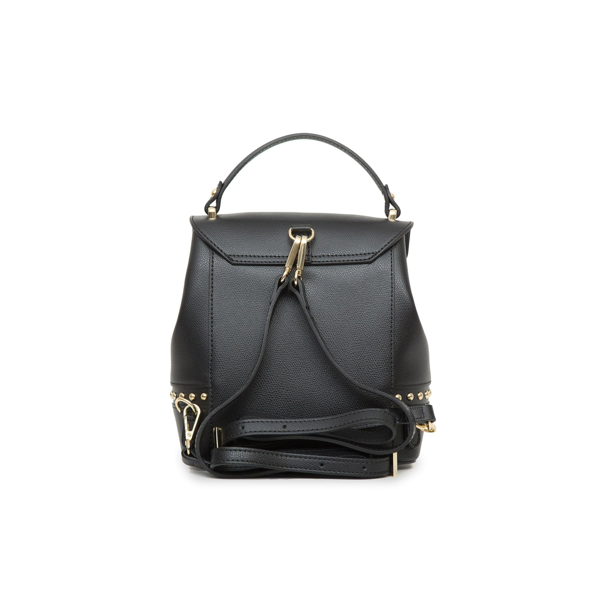 Agnese West Leather Backpack - Black