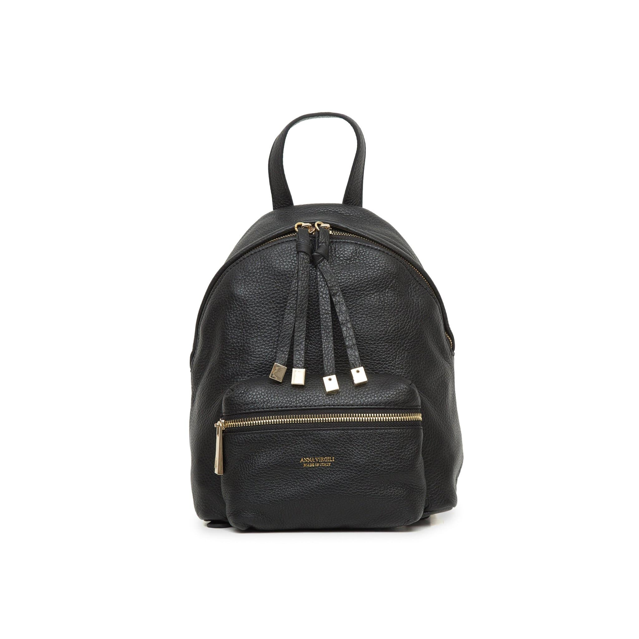 Alessia Rimini Leather Backpack - Black