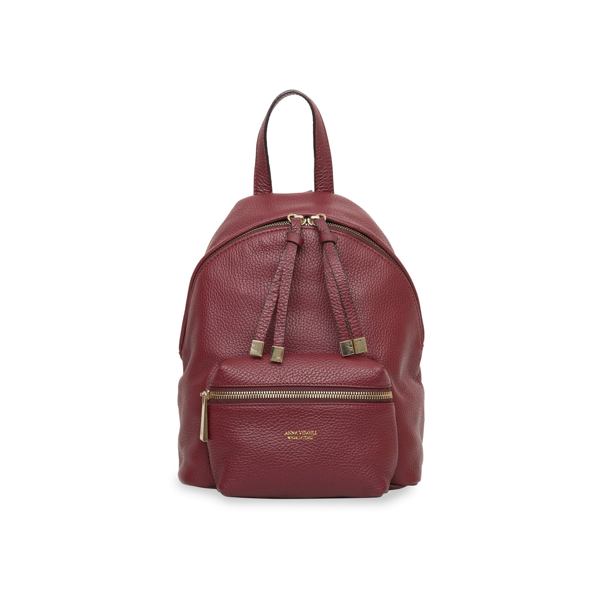 Alessia Rimini Leather Backpack - Bordeaux