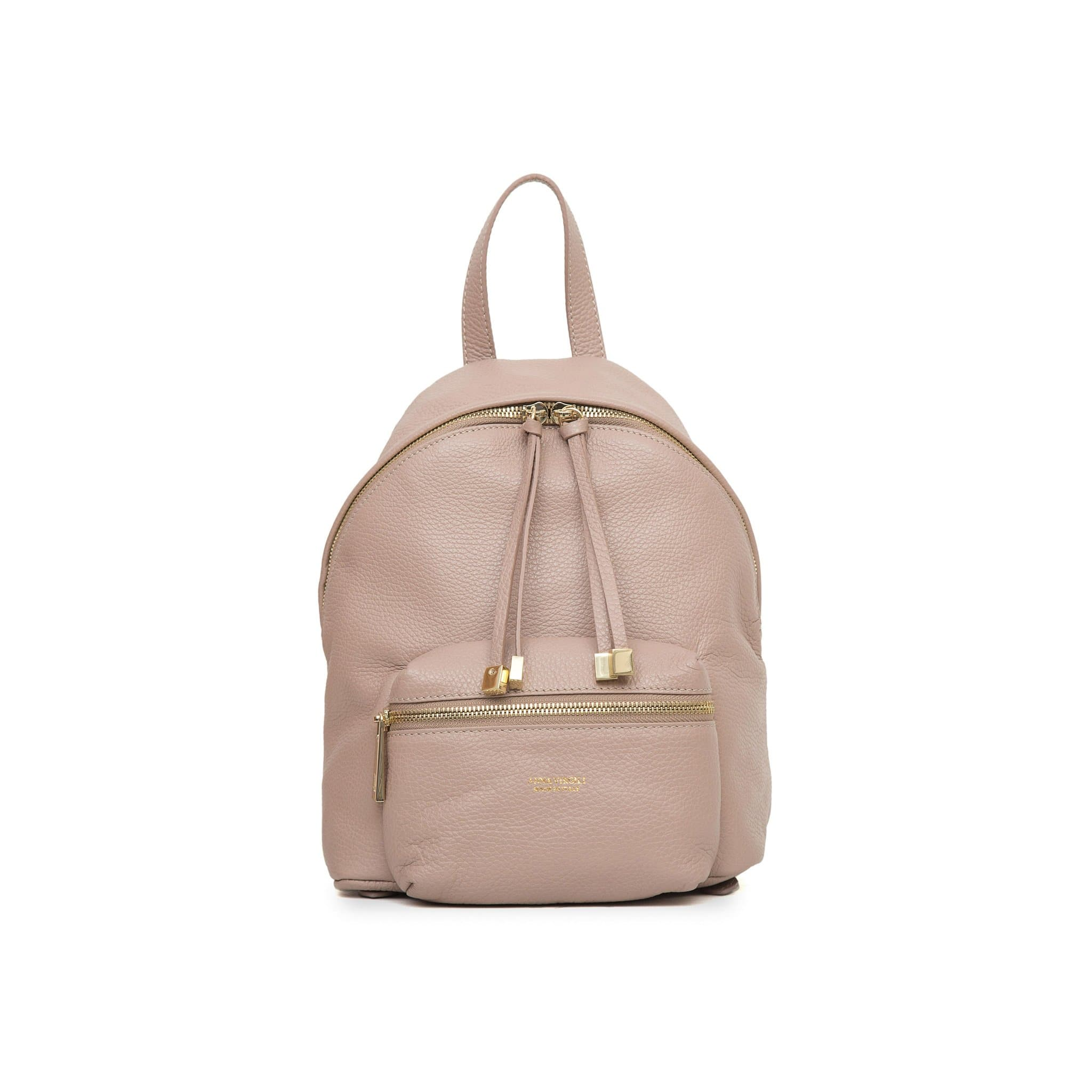 Alessia Rimini Leather Backpack - Nude