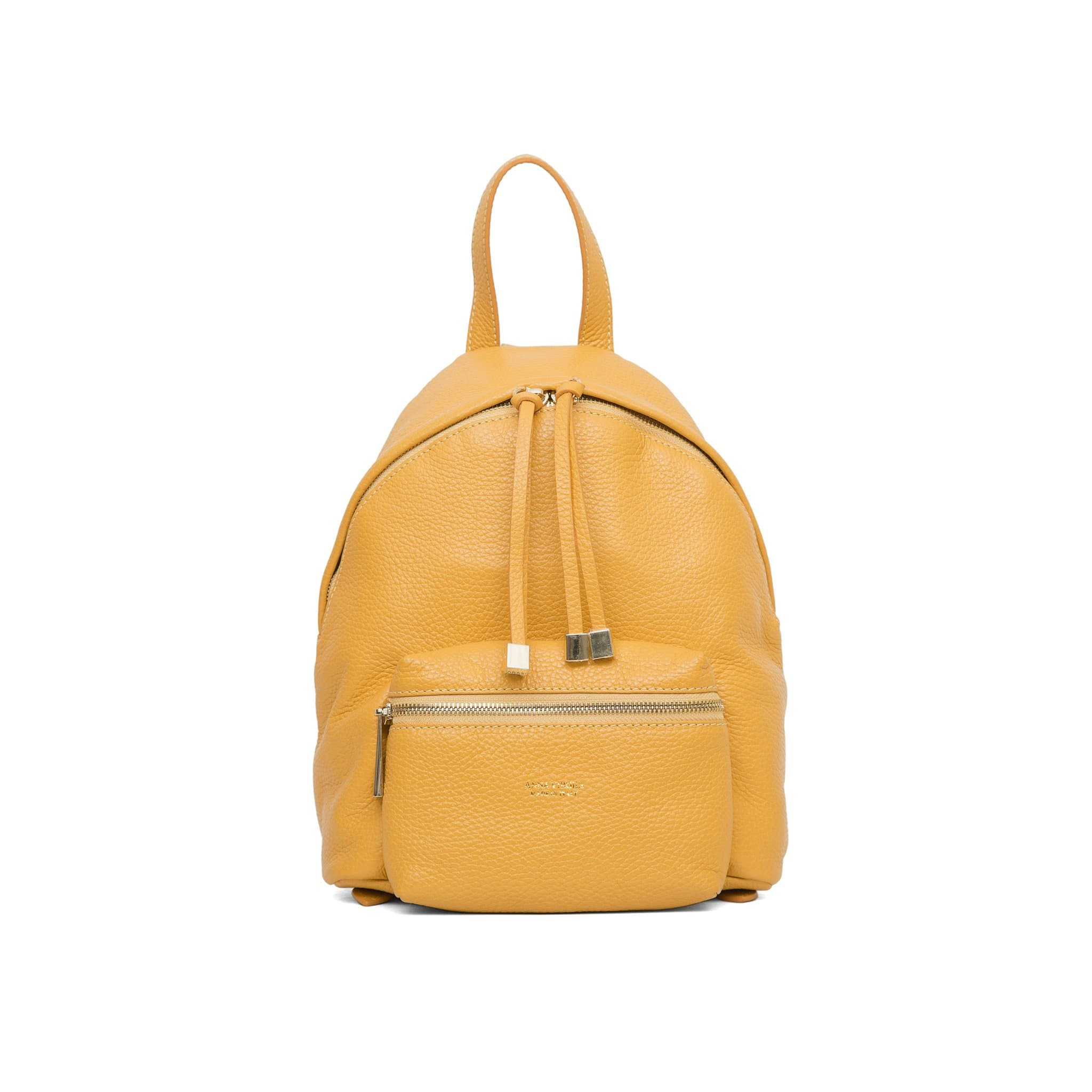 Alessia Rimini Leather Backpack - Ochre