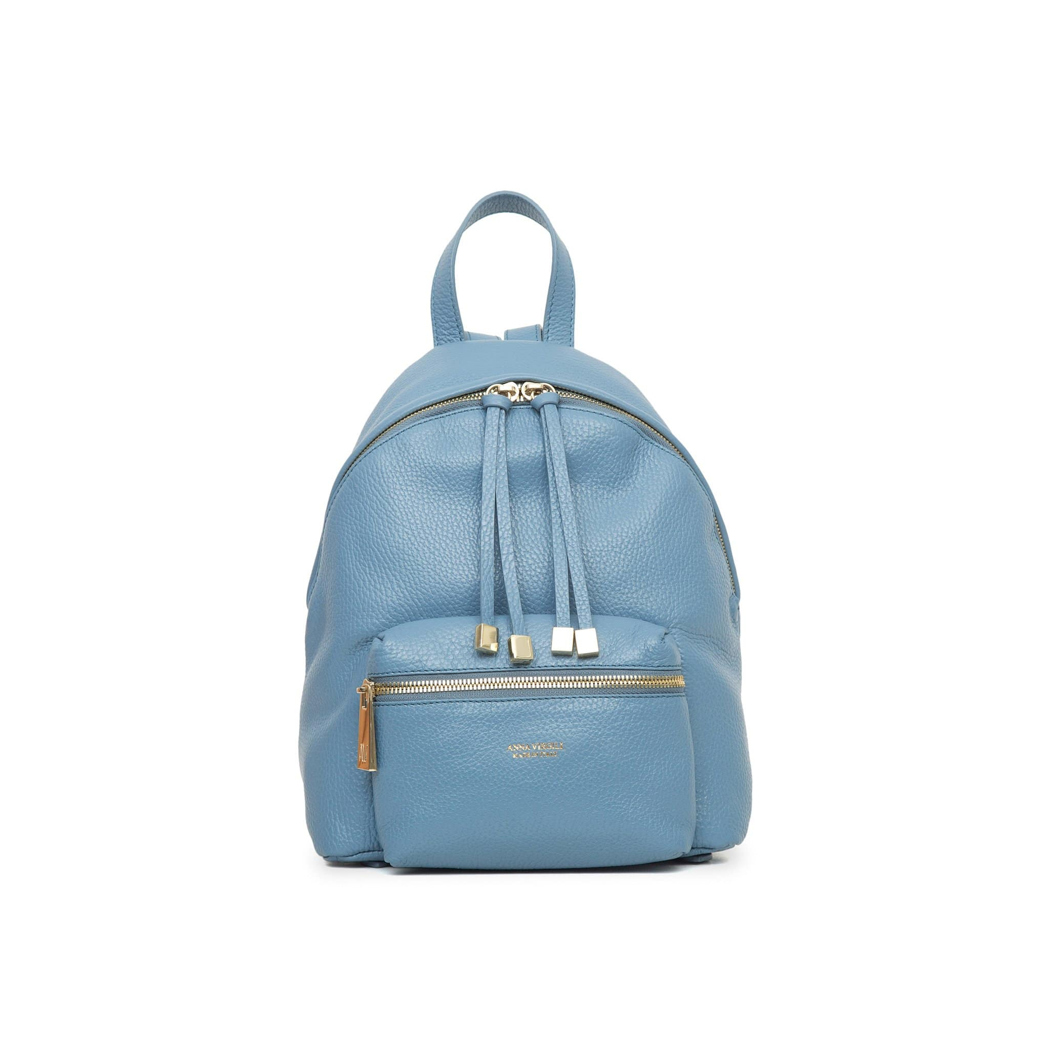Alessia Rimini Leather Backpack - Powder