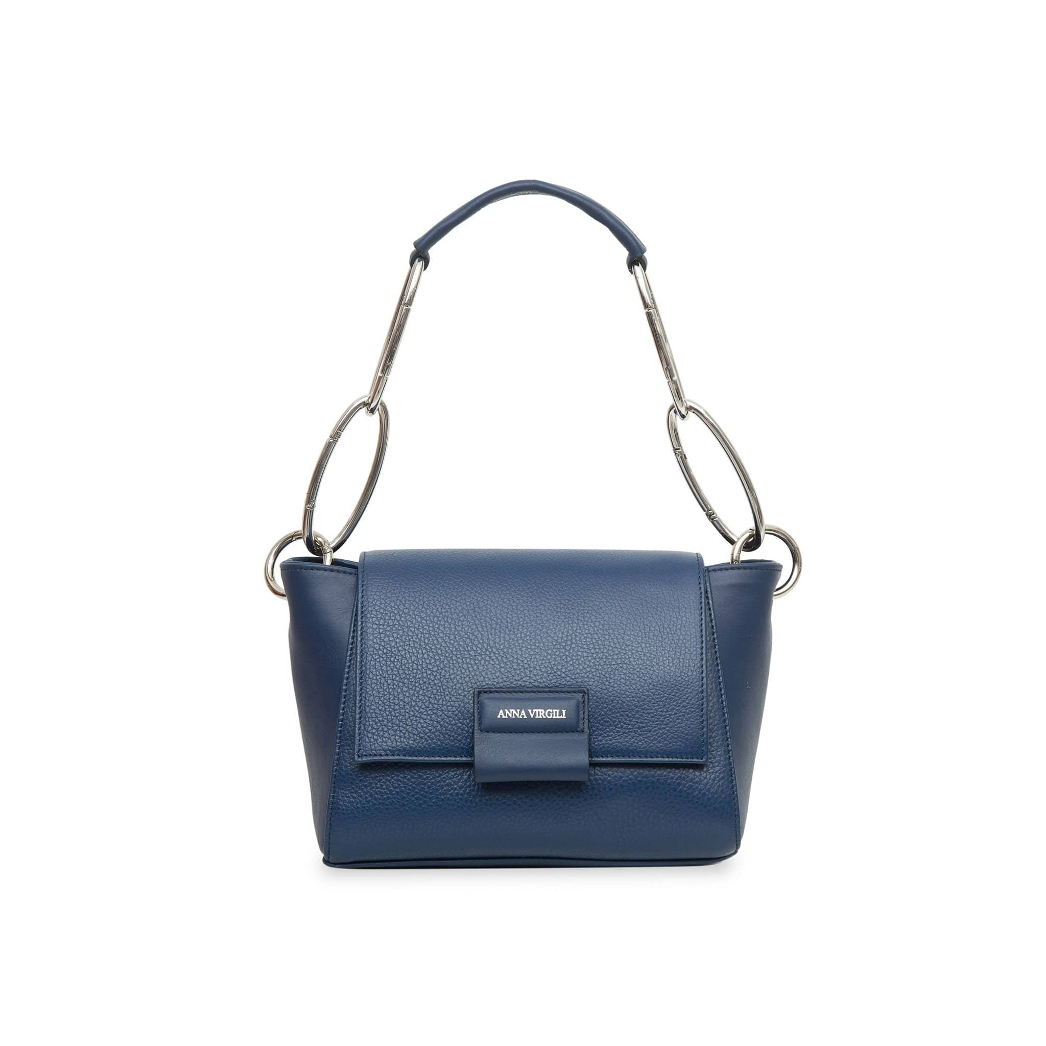 Cabiria Mini Chain Leather Handbag - Blue