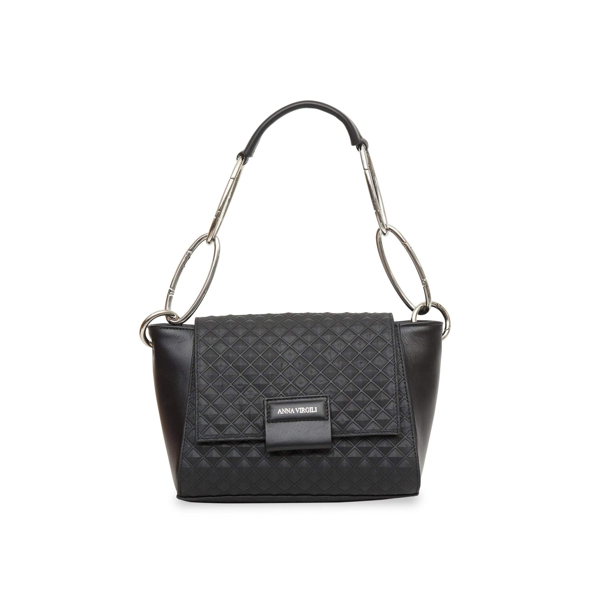 Cabiria Mini Pyramid Leather Handbag - Black