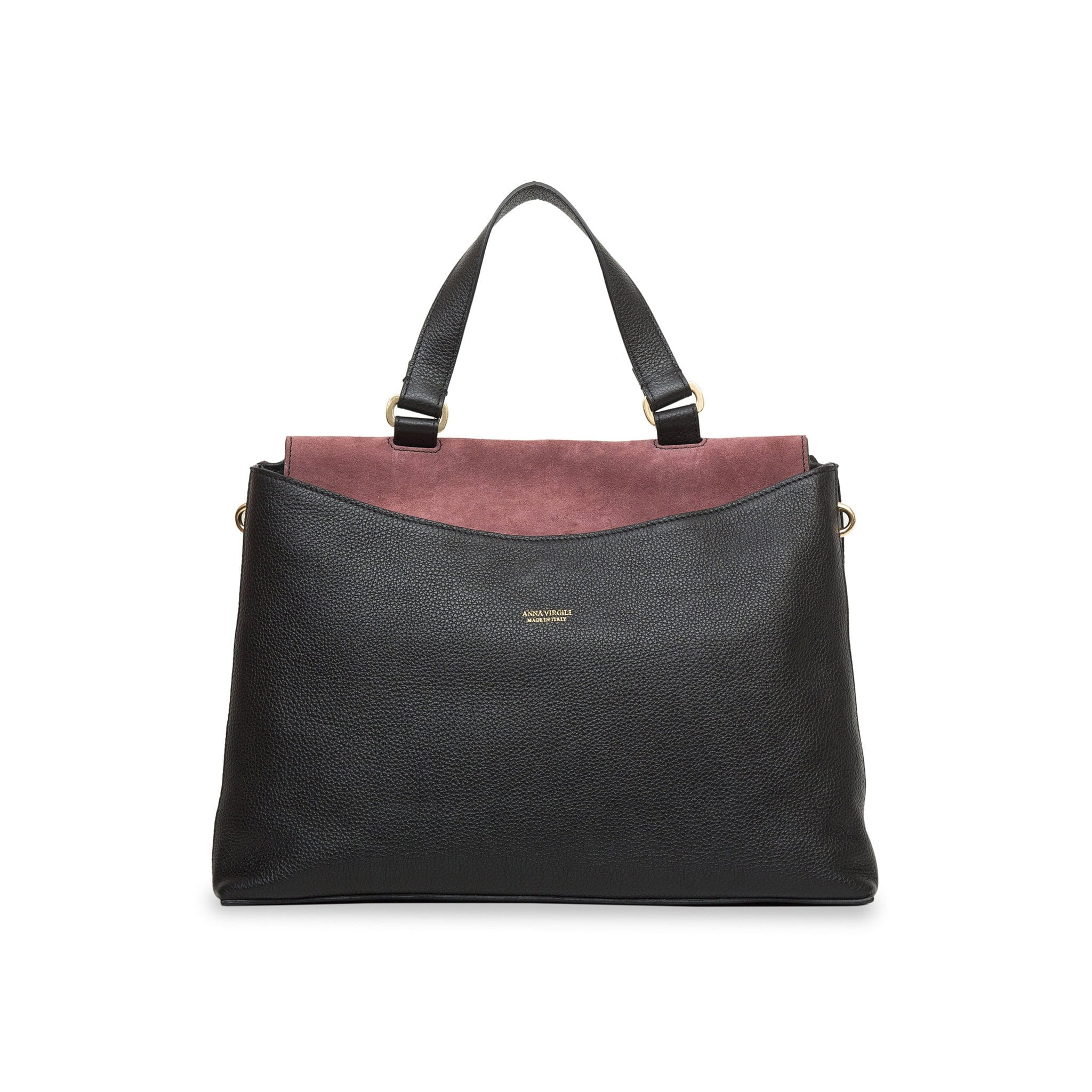 Eva Matera Leather Handbag - Multi Black