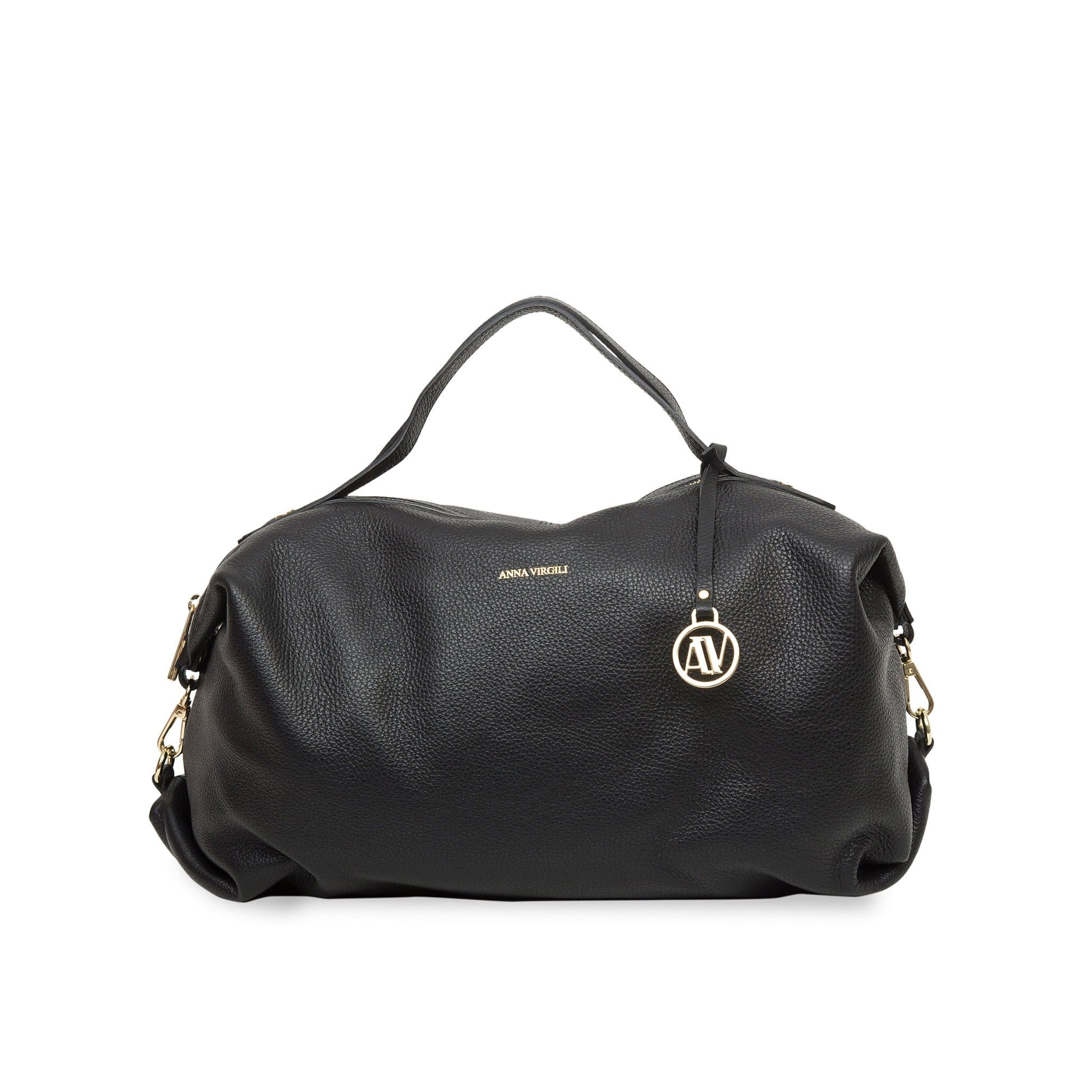 Giada Rimini Leather Handbag - Black