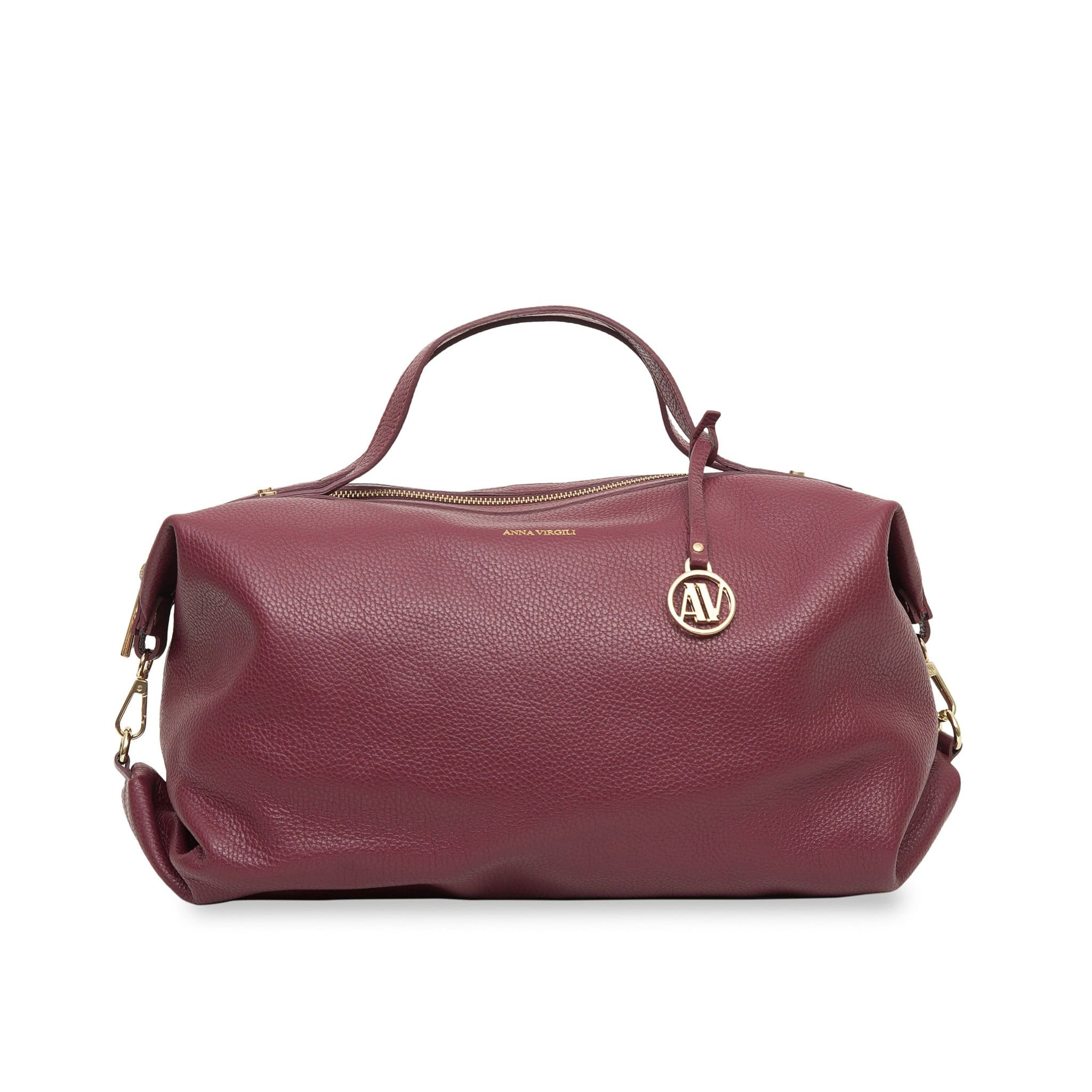 Giada Rimini Leather Handbag - Bordeaux