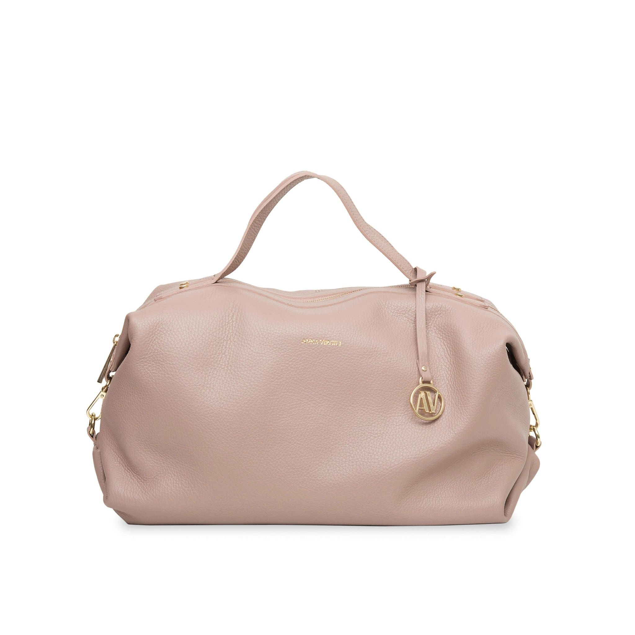 Giada Rimini Leather Handbag - Nude