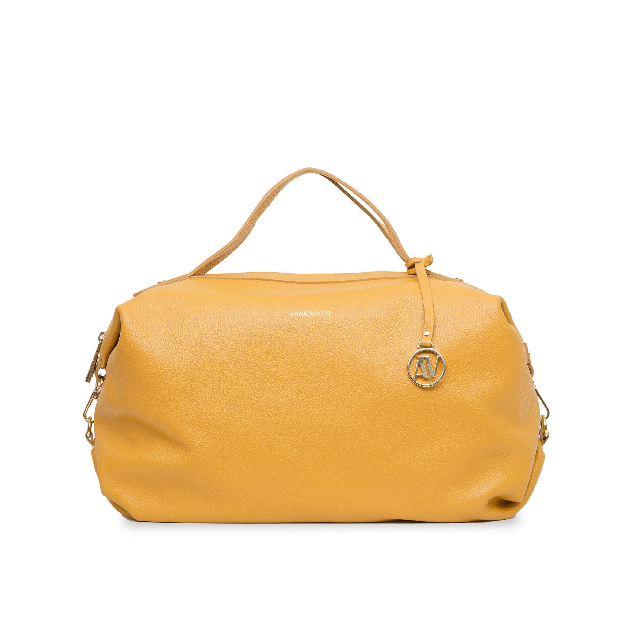 Giada Rimini Leather Handbag - Ochre