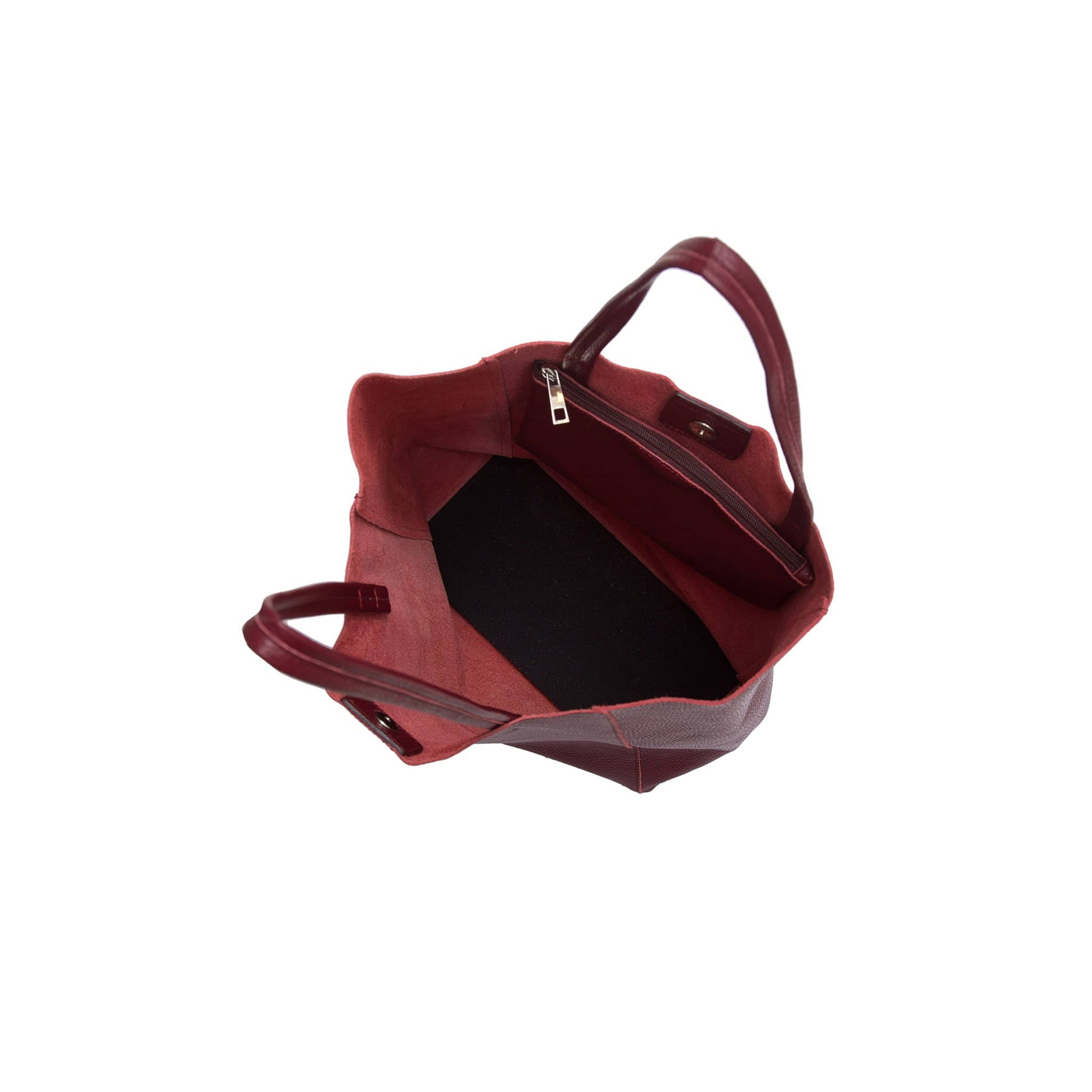 Lidia Palermo Soft Leather Tote - Bordeaux