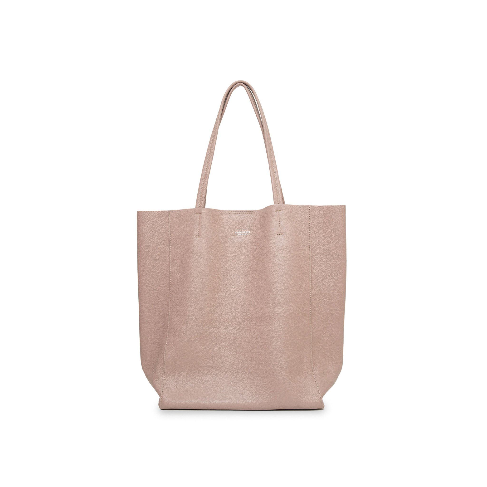 Lidia Palermo Soft Leather Tote -Nude