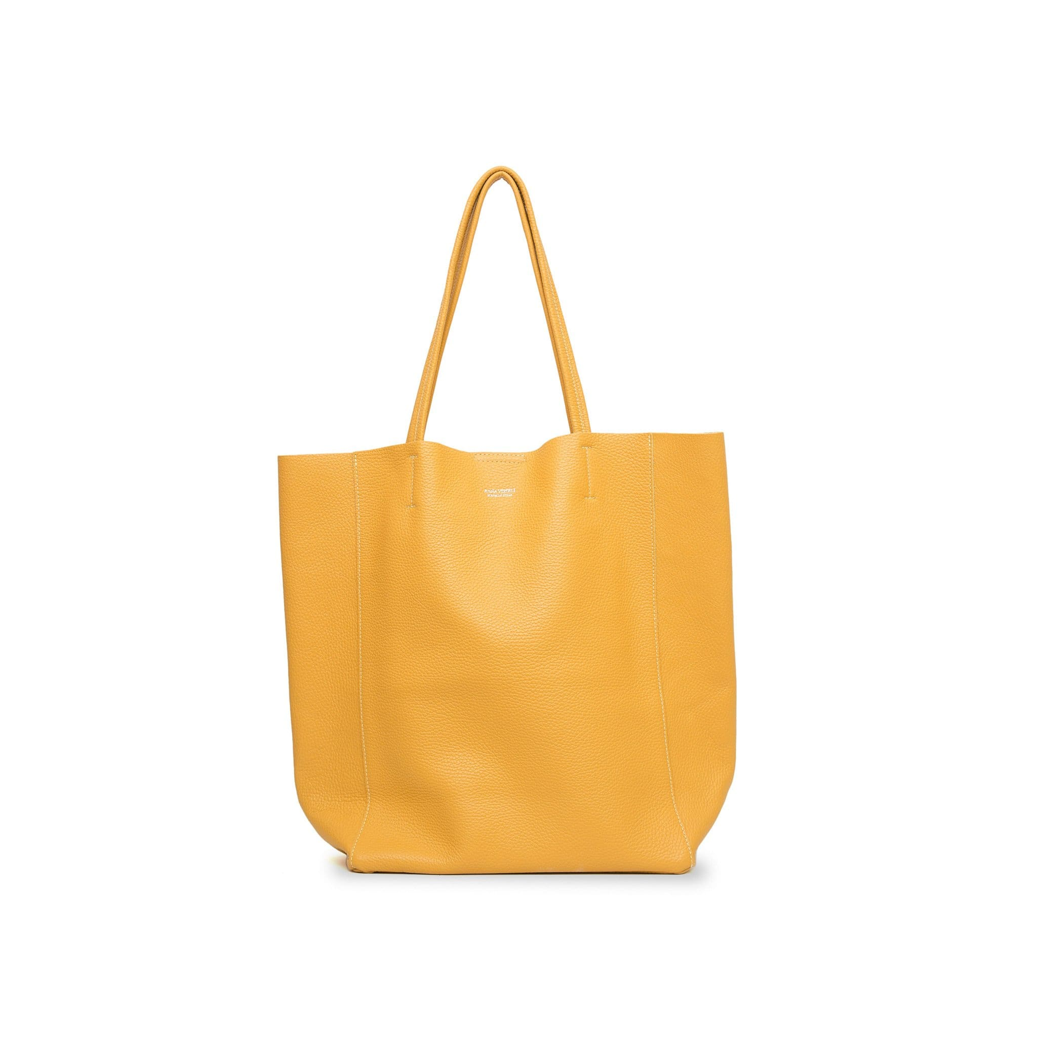 Lidia Palermo Soft Leather Tote - Ochre
