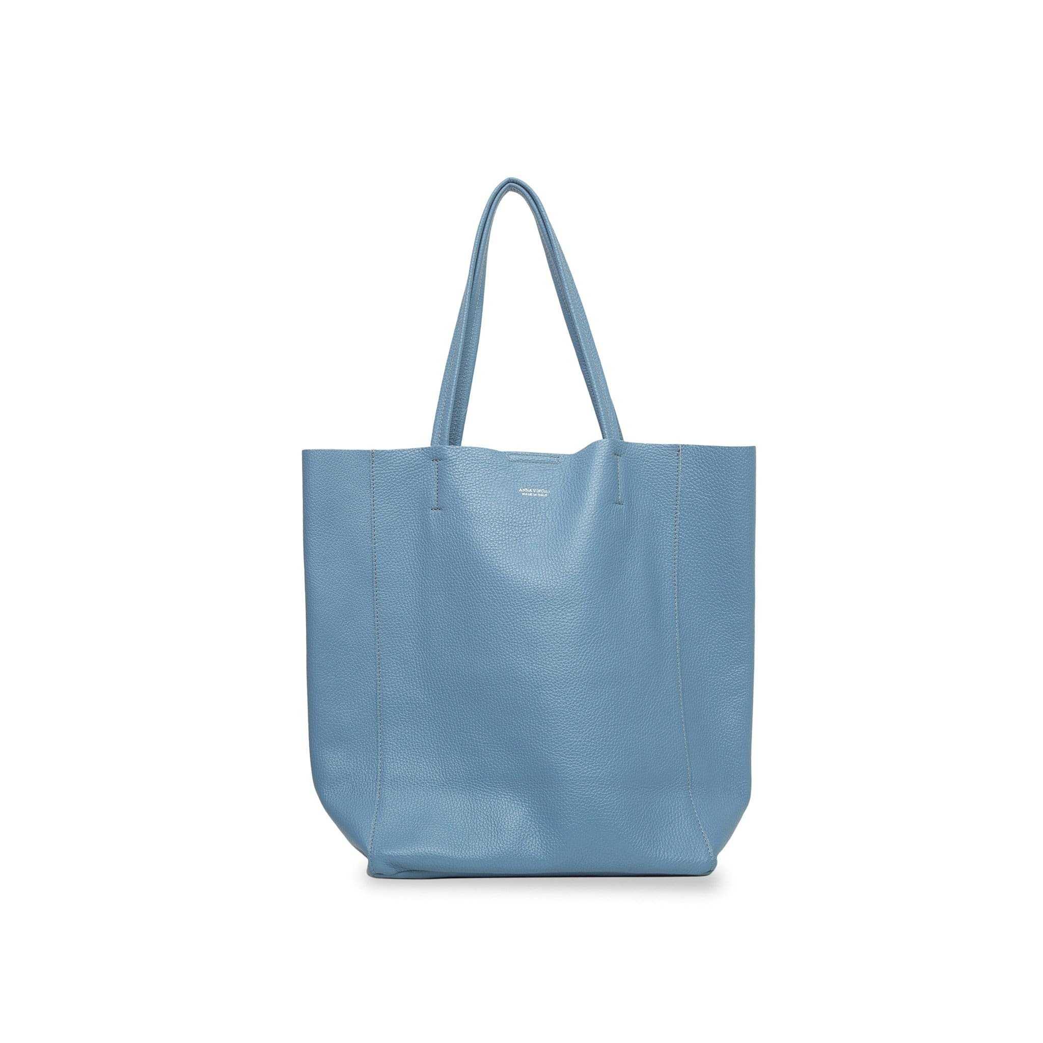 Lidia Palermo Soft Leather Tote - Powder