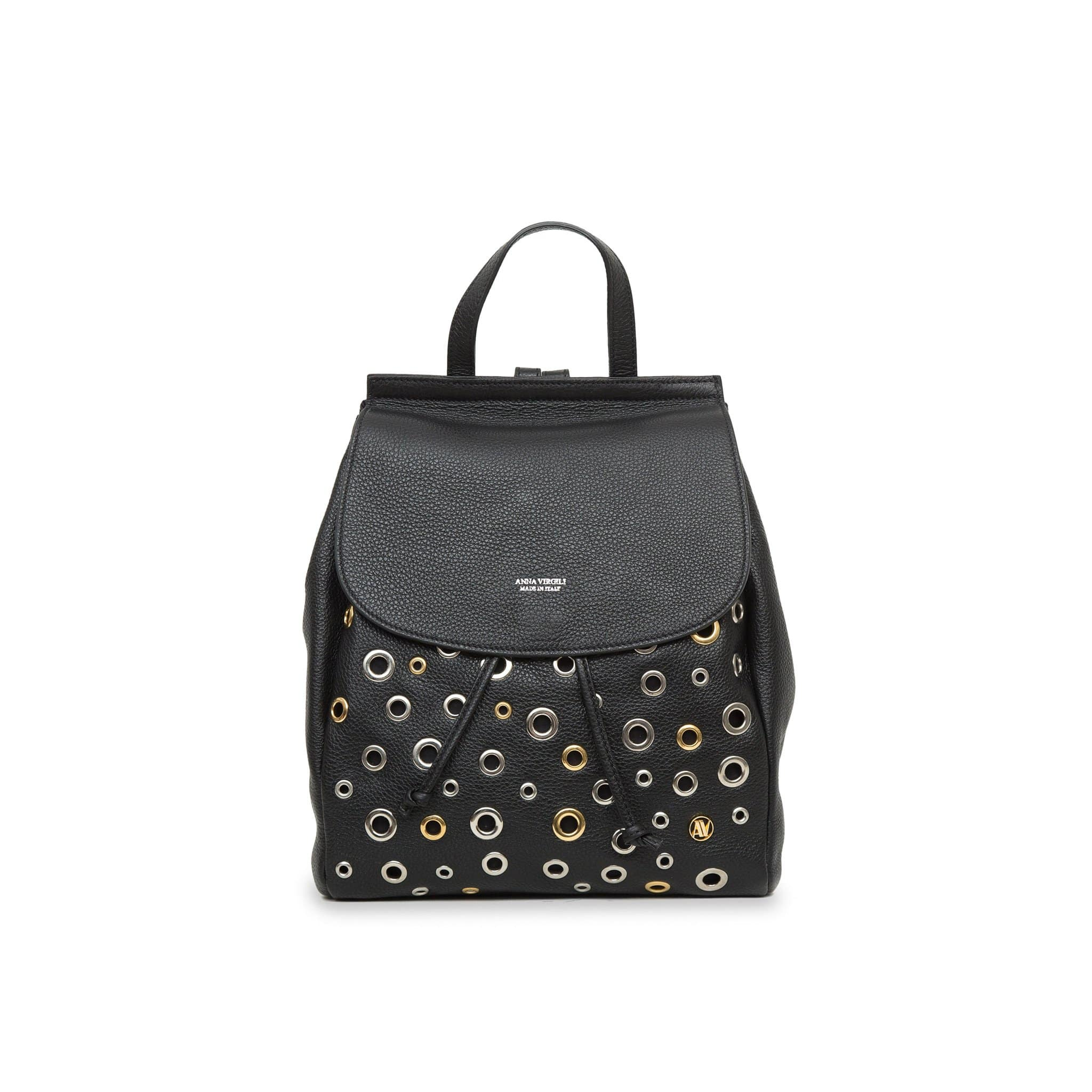 Margherita Rock Leather Backpack - Black