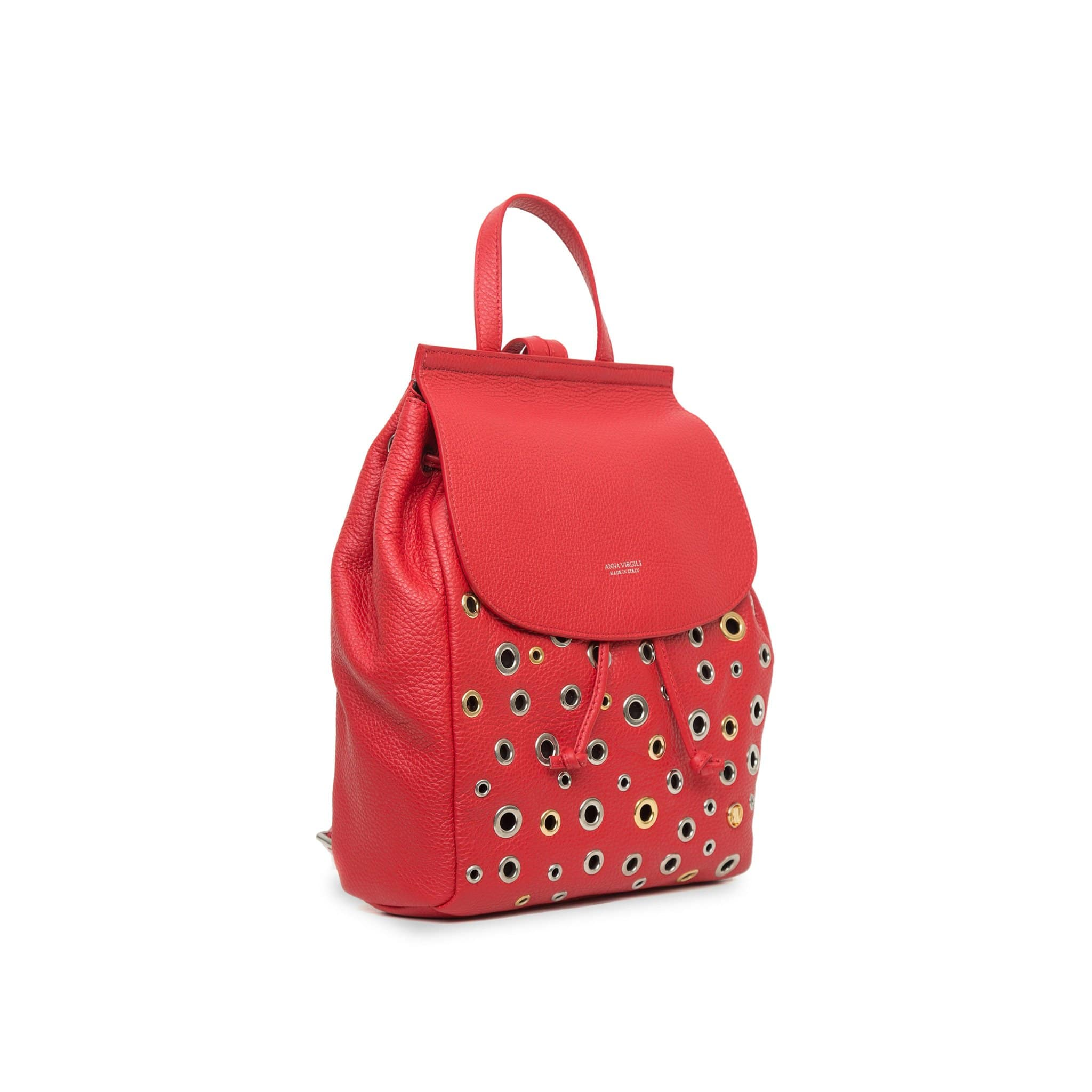 Margherita Rock Leather Backpack - Red