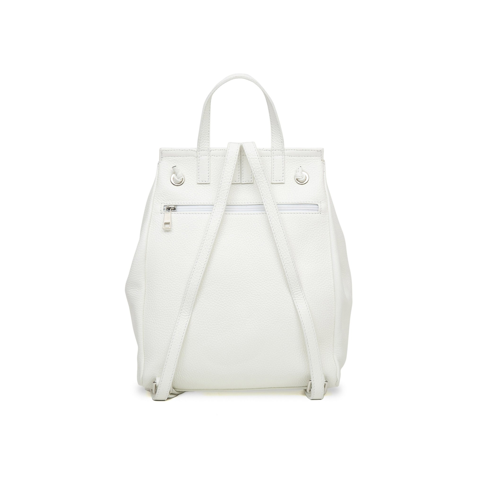 Margherita Rock Leather Backpack -White