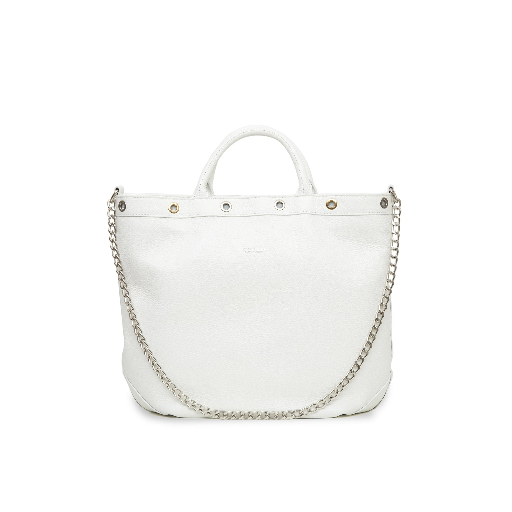 Naide Rock Leather Handbag - White
