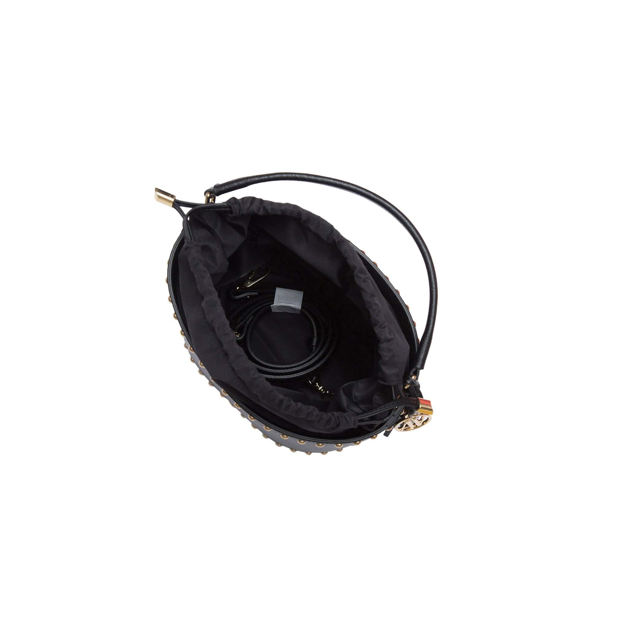Nicole West Leather Bucket Bag - Black