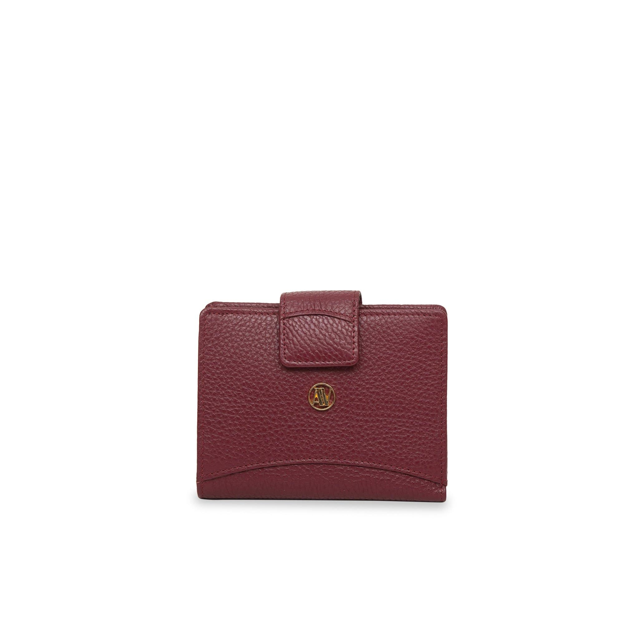 Bordeaux small Rimini leather wallet