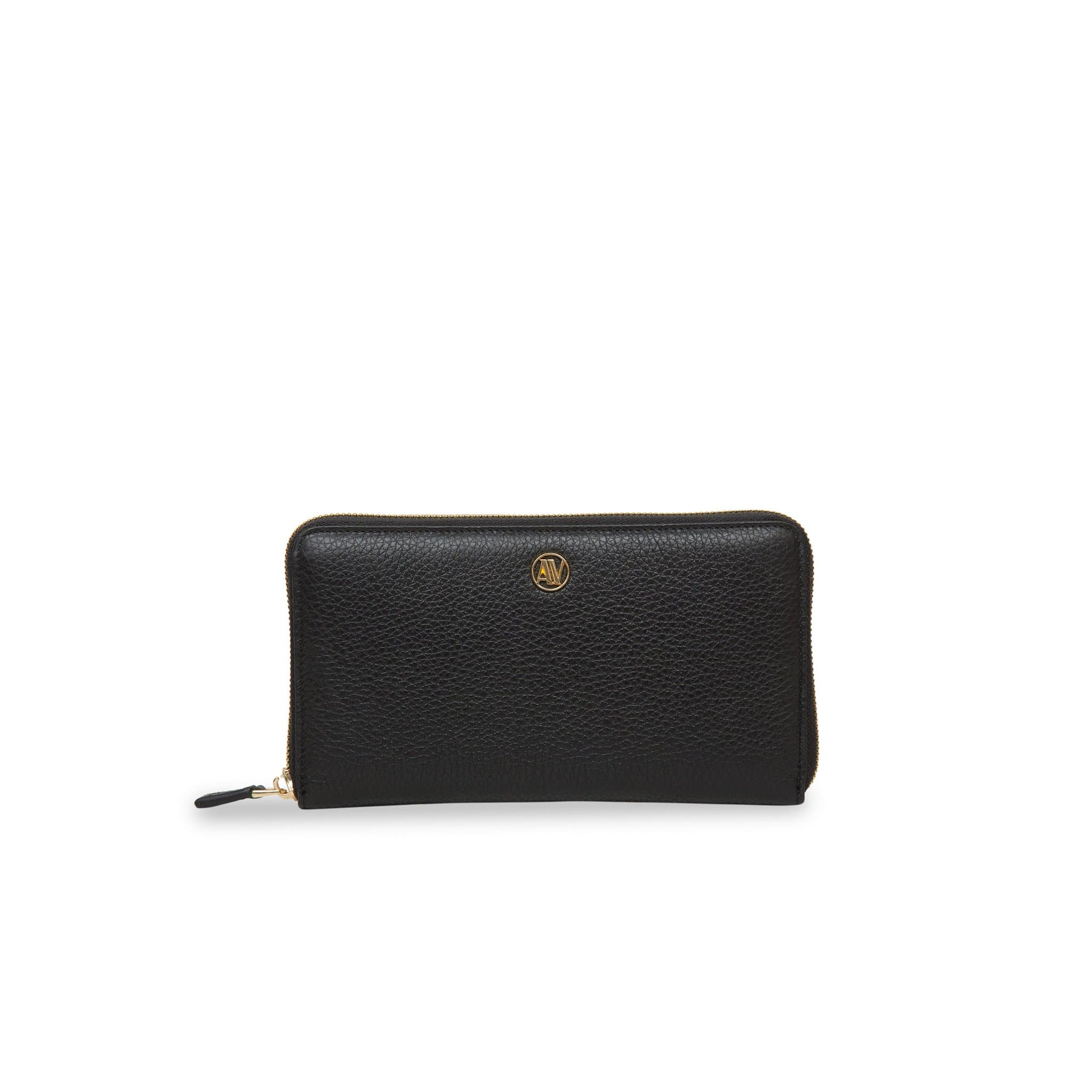 Rimini Zip Around leather Wallet - Black
