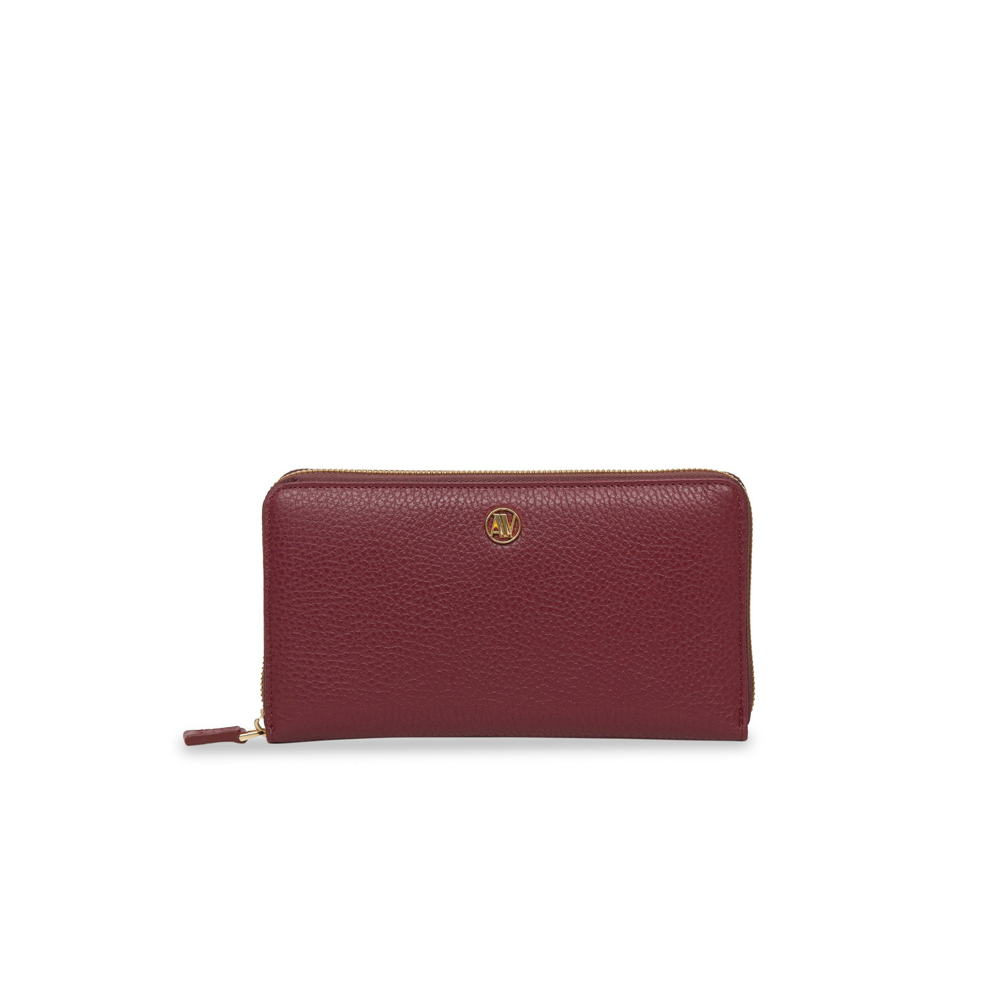 Rimini Zip Around leather Wallet - Bordeaux