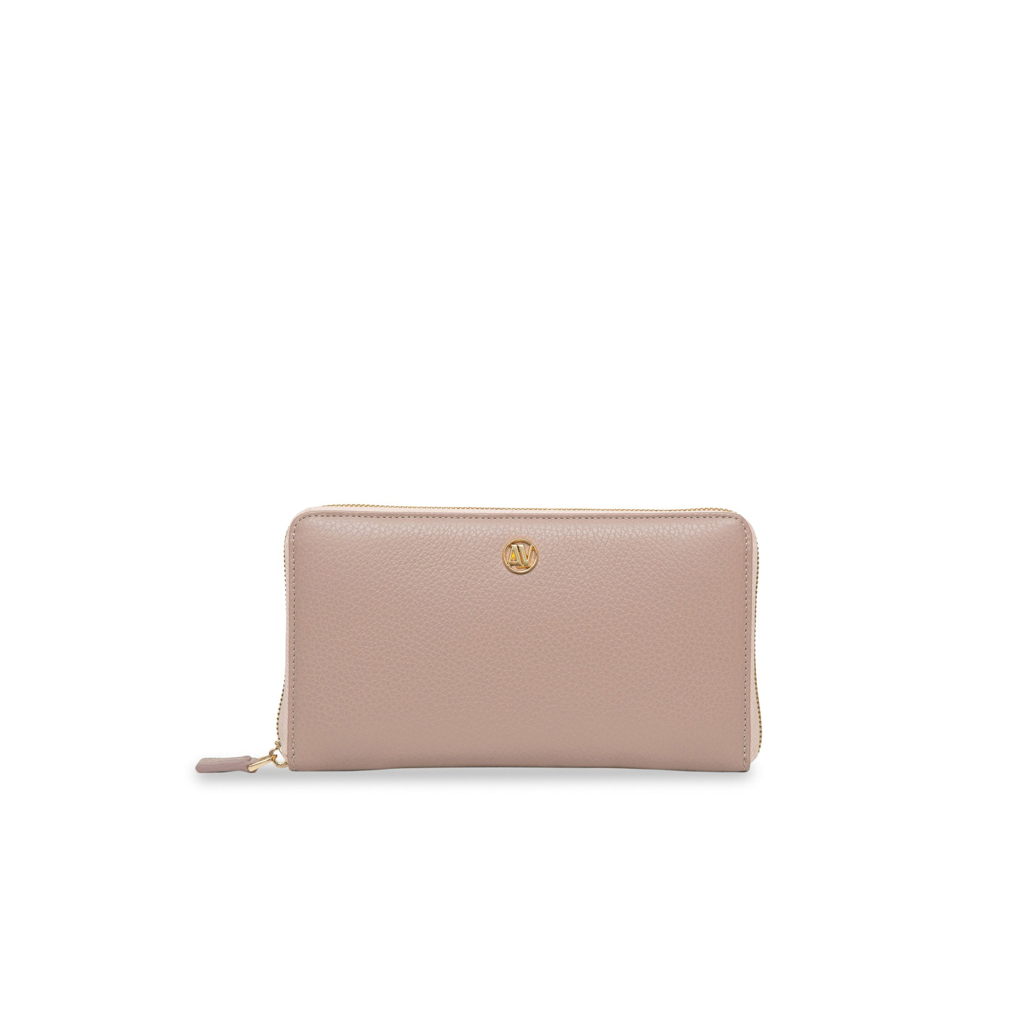 Rimini Zip Around leather Wallet - Nude