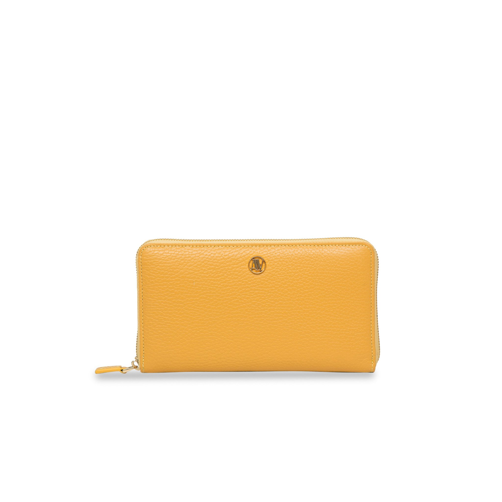 Rimini Zip Around leather Wallet - Ochre Yellow